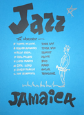 Jazz Jamaica - The Workshop A4 Black & Silver Embossed on Blue surfaced Poster